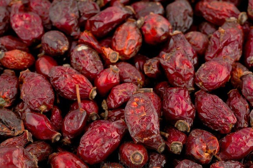Высушенные плоды шиповника
