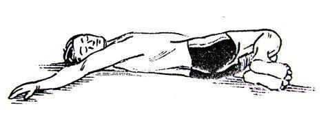 Скручивание лежа на спине