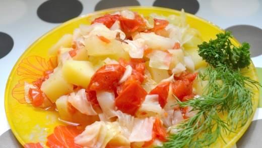 Сытное диетическое овощное рагу на пару