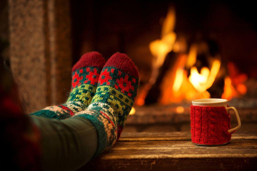 Теплые носки после прогревания ног