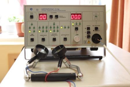 «Амплипульс — 5 Бр» - аппарат низкочастотной физиотерапии обеспечивает лечебное воздействие модулированными синусоидальными токами звуковой частоты