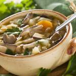 Супы на мясных, рыбных и грибных отварах