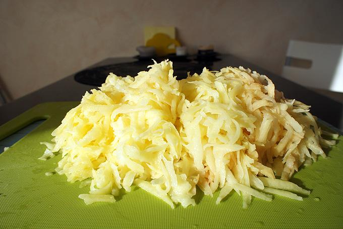 Тертый картофель с белком