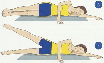 Упражнение лежа на боку
