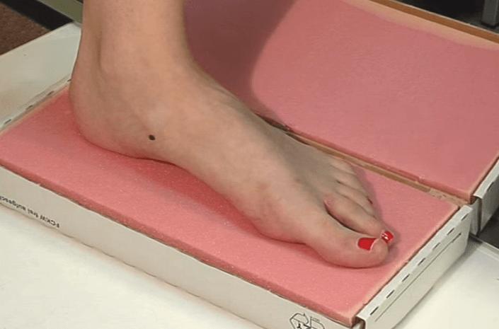 Форма для изготовления ортопедических стелек