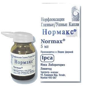 Нормакс – антибактериальные глазные/ушные капли