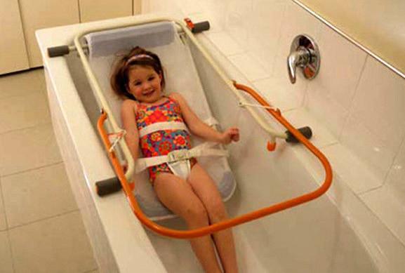 Сиденье (гамак) для купания ребенка с ДЦП