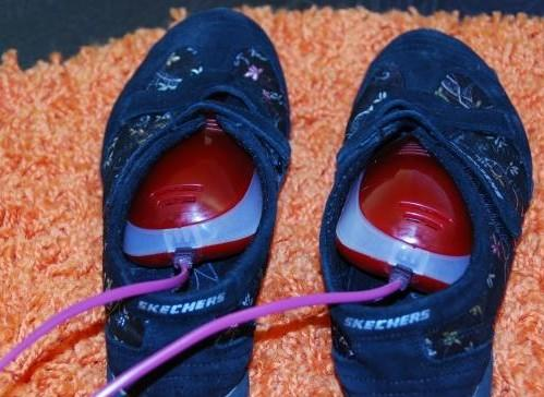 Просушивайте мокрую обувь