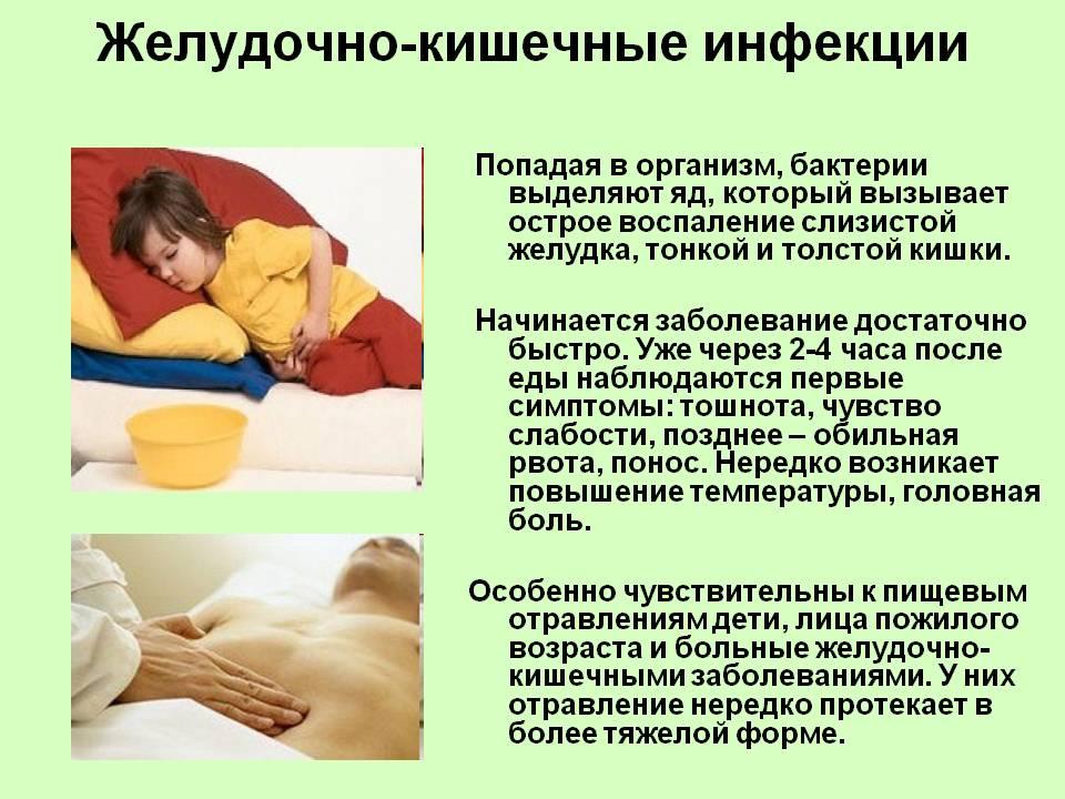 Признаки желудочно-кишечных инфекций