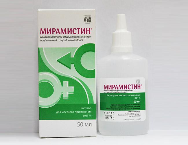 Антибактериальные и противовоспалительные местные средство Мирамистин