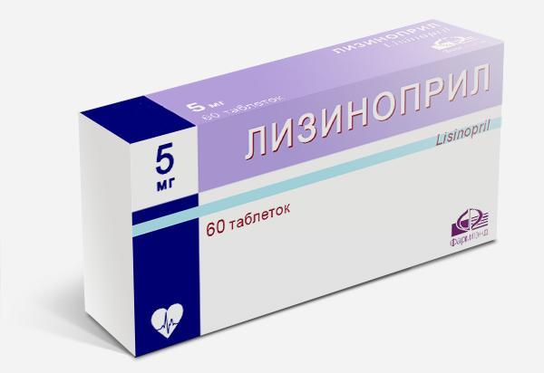 Лизиноприл подавляет рост давления за счет снижения воздействия ренин-ангиотензиновых ферментов на стенки сосудов