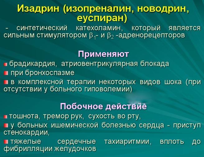 Препарат Изадрин