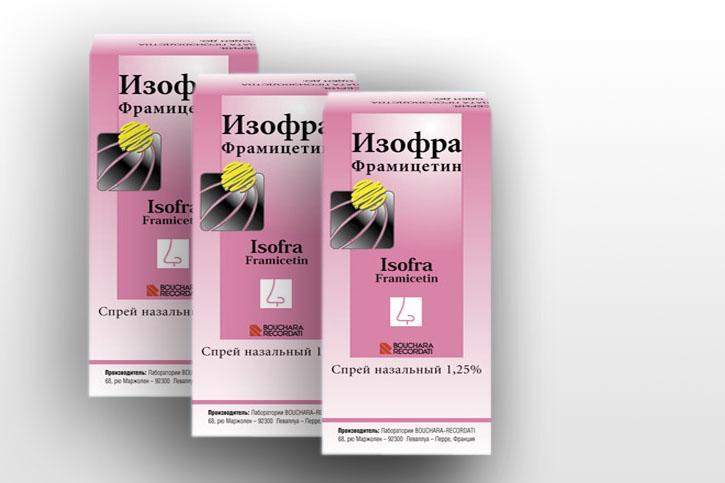 Препарат Изофра используется при лечении гайморита на среднем или тяжелом этапе терапии