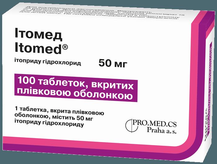 Препарат Итомед против першения в горле