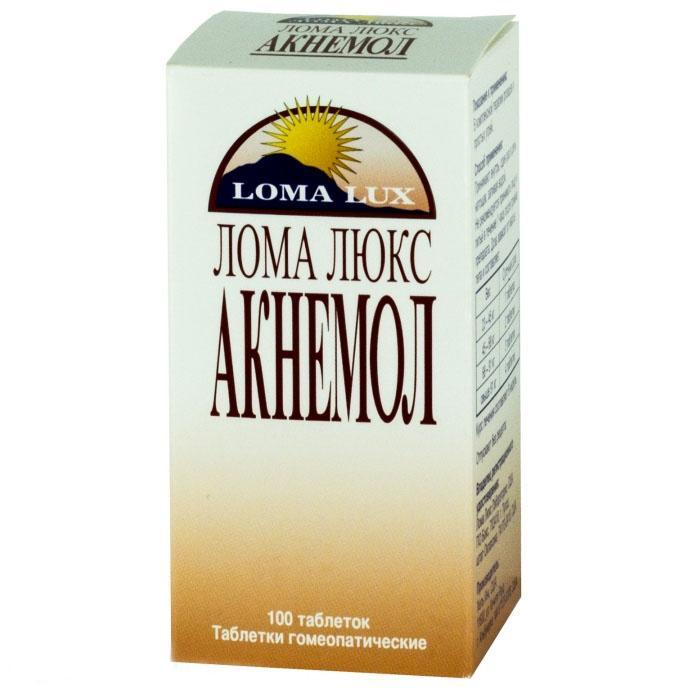 Препарат Лома Люкс Акнемол гомеопатический препарат эффективно борется с розацеа и угревой болезнью