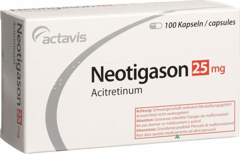 Препарат Неотигазон для лечения осложненной формы псориаза