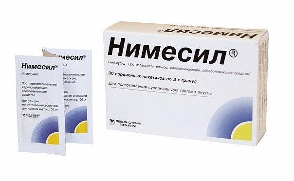 Препарат Нимесил относится к нестероидной группе противовоспалительных средств