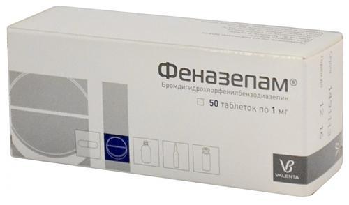 Препарат Феназепам с ярко-выраженным седативным эффектом