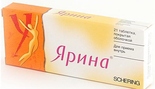 Препарат Ярина помогает избавиться от мелкой сыпи и угрей