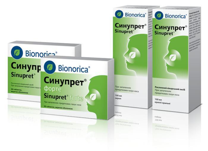 Синупрет для комплексного лечения гайморита