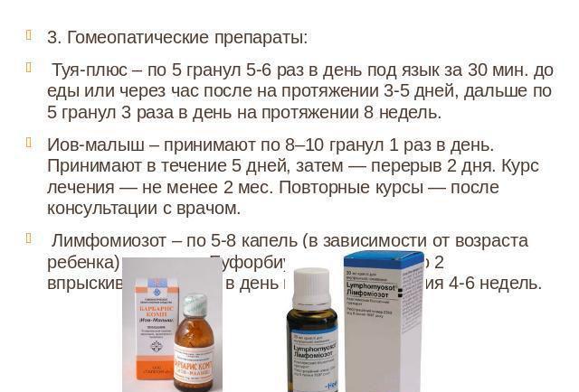 Препараты для лечения аденоидов