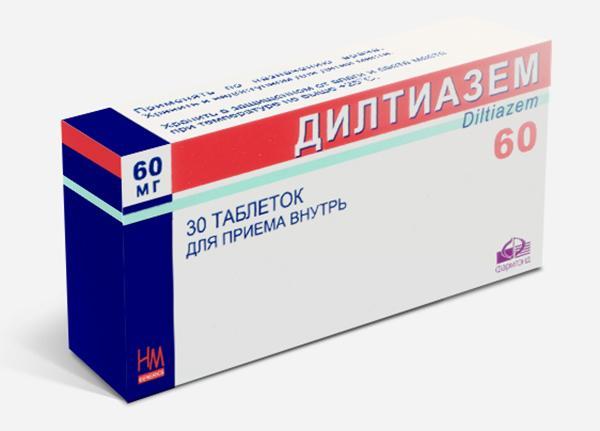 Препарат Дилтиазем назначается при стенокардии и гипертензии