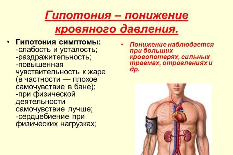 Симптомы пониженного артериального давления