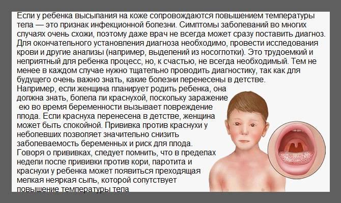 Болезнь у ребенка с сыпью