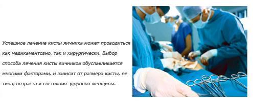 Как лечить кисту яичника без операции - лечение медикаментами и народными средствами