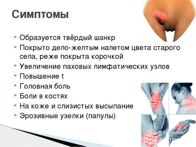 Сифилис на женских органах