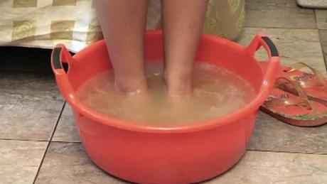 Ванночка для ног с горчицей