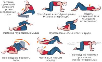 Комплекс упражнений при сколиозе