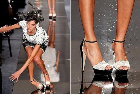 Обувь на высоком каблуке может стать причиной вывиха