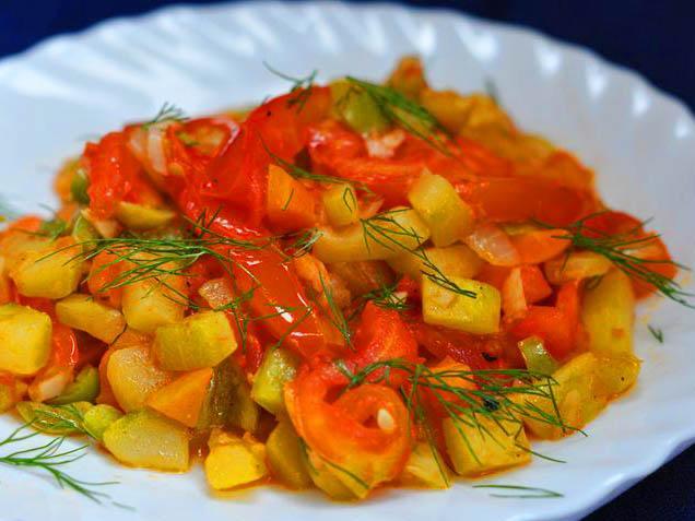 Овощное рагу при подагре