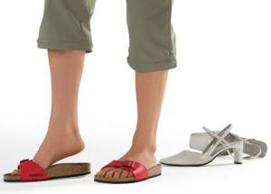 При бурсите нужно носить правильную обувь