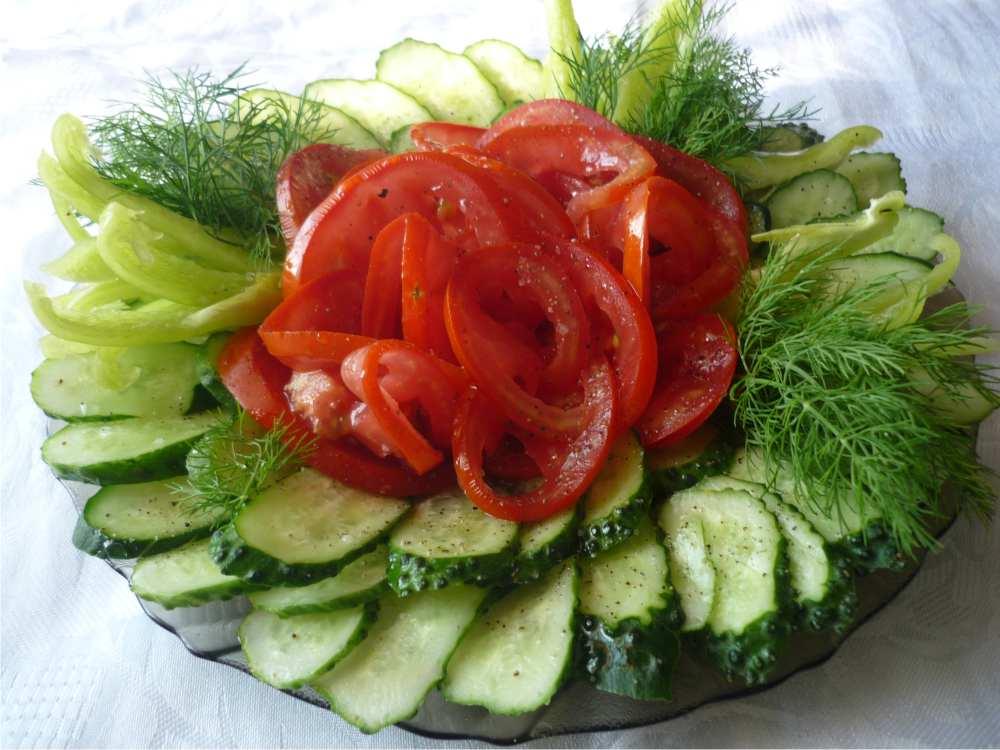 Свежие овощи для больных подагрой