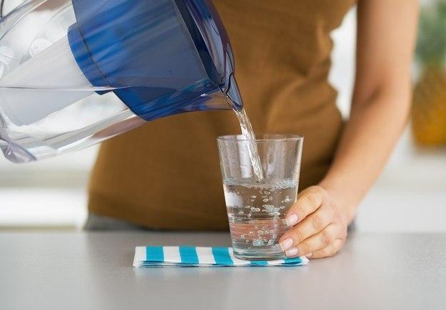 Употребление воды перед едой