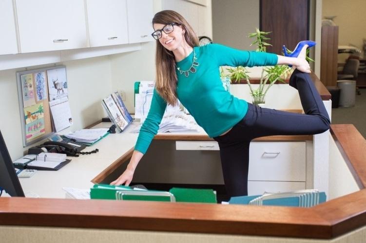 Фитнес упражнения на работе