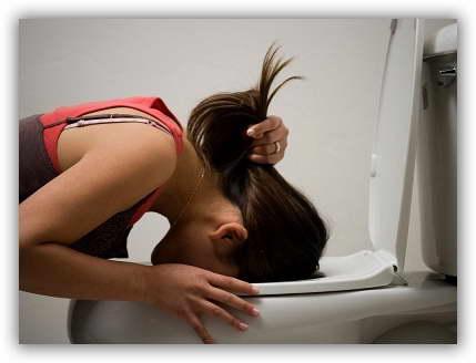 Тошнота, рвота, резкая потеря веса и сильная утомляемость