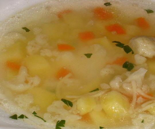 Суп из риса и цветной капусты