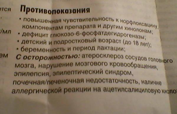 Противопоказания Нолицина