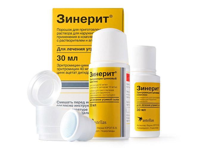 Зинерит - препарат для избавления от угревой сыпи