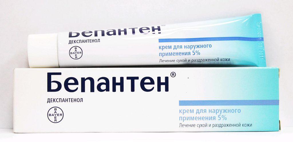 Крем Бепантен создает дополнительную защиту от инфекции и истончения