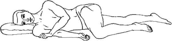 Поза для облегчения боли при аппендиците