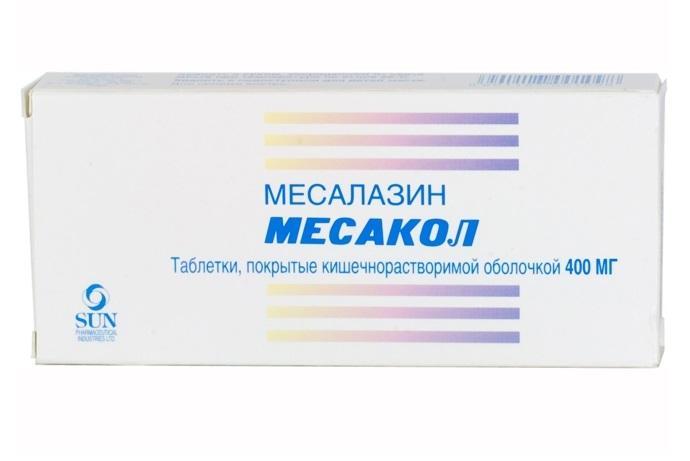 Препарат Месакол назначается в дополнение к препаратам группы глюкокортикоидов