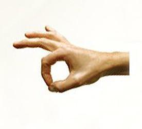 Положение пальцев для выполнения упражнений