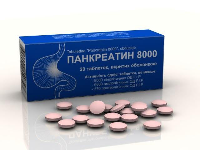 Препарат Панкреатин принимается медикамент при приеме пищи