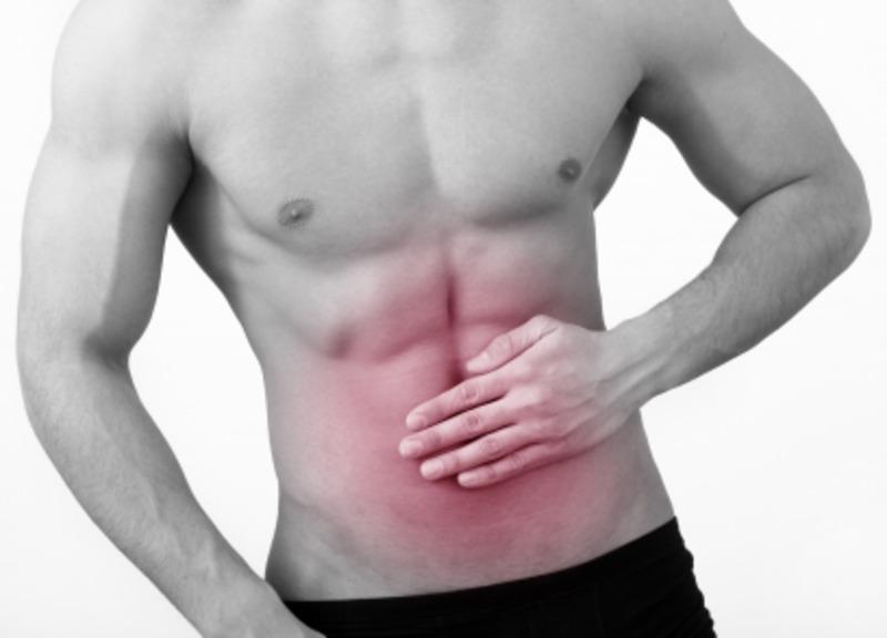 Боль в животе у больного с язвой