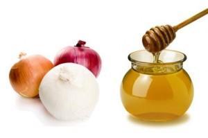 Использование лука, меда и мыла