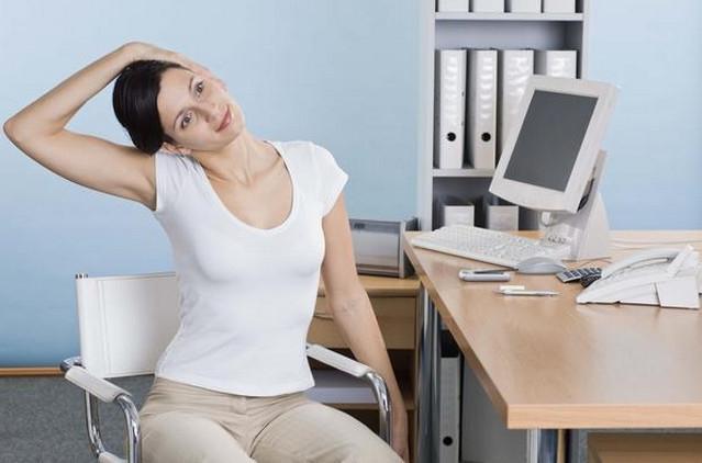 Упражнение для шейного отдела позвоночника